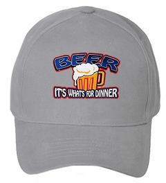 Beer It's What's For Dinner Baseball Hat