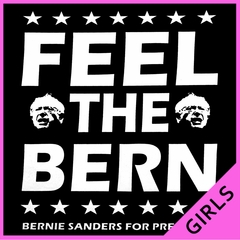 Bernie Sanders For President - Feel The Bern Ladies T-shirt