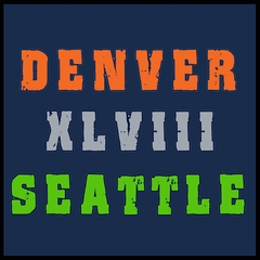 Big Game  48 Denver vs. Seattle Men's T-Shirt