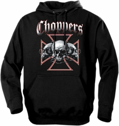 "Biker Hoodies - ""Chopper Barbed Wire"" Biker Hoodie"