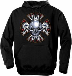 "Biker Hoodies - ""Demon Iron Cross"" Biker Hoodie"
