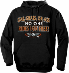 "Biker Hoodies - ""Gas Grass or Ass Trucker Babe"" Biker Hoodie"