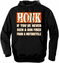 "Biker Hoodies - ""Gun Fired From a Motorcycle"" Biker Hoodie"