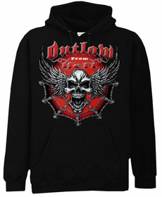 "Biker Hoodies - ""Outlaw From Hell"" Biker Sweatshirt"