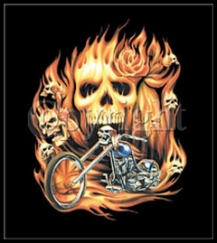 "Biker Shirts - ""Rider From Hell"" Biker Shirt"