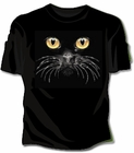 Black Cat Face Girls T-Shirt