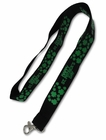 Black Happy St. Patrick's Day Lanyard
