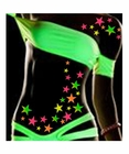 Black Light Reactive Body Stickers - Stars