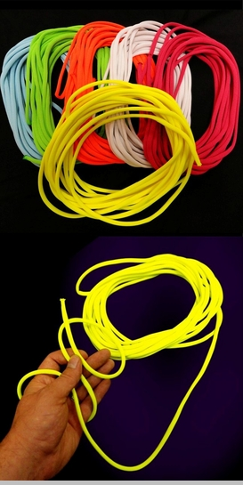 Black Light Reactive UV Glow Rope (25 Feet!)<!-- Click to Enlarge-->