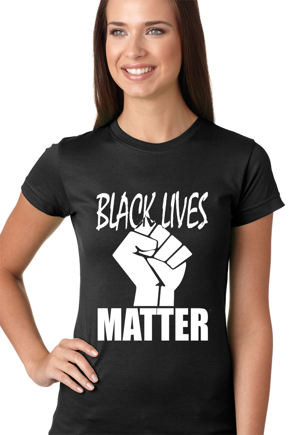 Black Lives Matter Fist Girls T-shirt