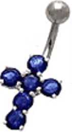 Blue Cross Navel Jewelry