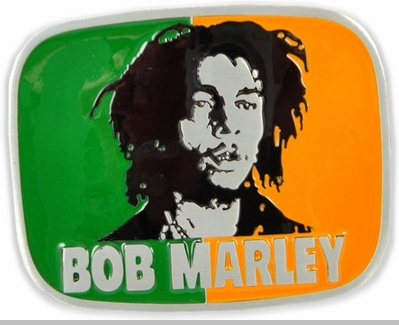 Bob Marley Belt Buckle With FREE Leather Belt<!-- Click to Enlarge-->