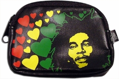 Bob Marley Hearts Coin Catcher Stash Bag