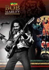 Bob Marley Jammin' 3D Holographic Poster