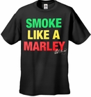 Bob Marley Official Smoke Like A Marley Men's T-Shirt (Black)