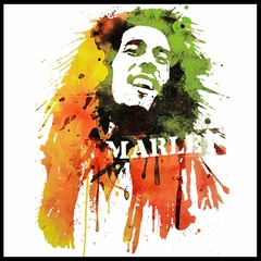 Bob Marley Portrait Men's T-Shirt (White)