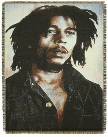 "Bob Marley ""Portrait"" Throw Blanket"