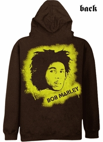 Bob Marley Spray Zip Up Hoodie