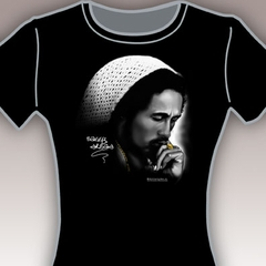 Bob Marley Thinking Girls T-Shirt