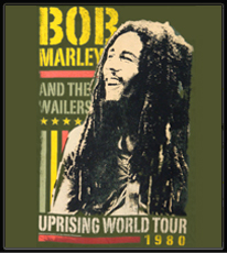 "Bob Marley ""Uprising World Tour 1980"" T-Shirt"