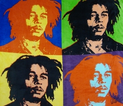 Bob Marley  Warhol Micro Raschel Fleece Throw Blanket