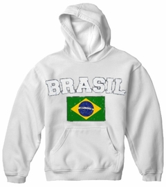 Brasil Vintage Flag International Hoodie