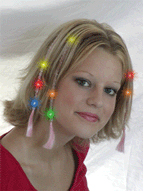Bright LED Flashing Party Hair Braids