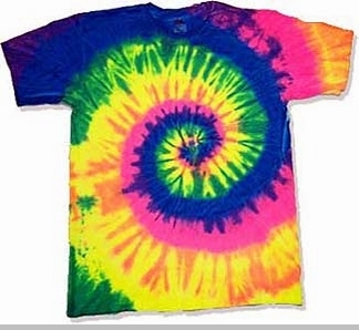 Bright Spiral Tye Dye T-Shirt<!-- Click to Enlarge-->