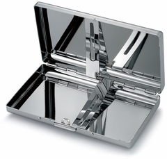 Brilliant Chrome Modern Cigarette Case (For Regular Size & 100's)