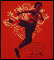 "Bruce Lee ""Immortality"" T-Shirt (Red)"