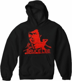 Bruce Lee Red Dragon Adult Hoodie