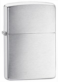 Brushed Silver Zippo Lighter
