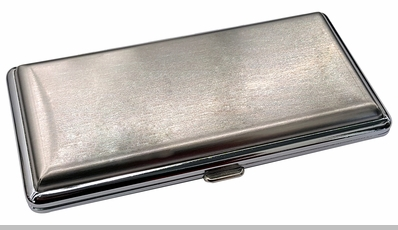 Brushed Steel Cigarette Case (For Regular Sized, 100s, and 120s)<!-- Click to Enlarge-->