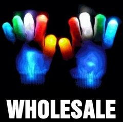 Bulk Pack Raver Hands LED Light Show Pair of Gloves (As low as $9 a pair!)