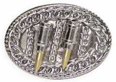 Bullet Belt Buckle With FREE Leather Belt