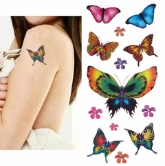 Butterfly Temporary Tattoo Assortment (72 Butterfly Tattoos)