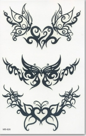 Butterfly Tribal Bands  Temporary FakeTattoo