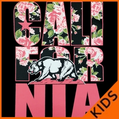 California Floral Pattern Kids T-shirt
