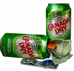 Canada Dry Diversion Can Safe
