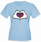 Cartoon Hands Confederate Flag Girl's T-Shirt