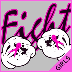 Cartoon Hands Fight Breast Cancer Girls T-shirt