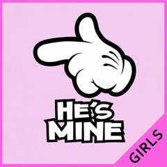 Cartoon Hands He's Mine Girl's T-Shirt