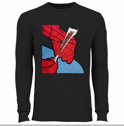 Cartoon Spider Hands Rolling Up Thermal Shirt<!-- Click to Enlarge-->