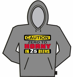 Caution Zero To Horny Hoodie