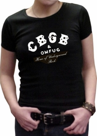 CBGB Girls Logo T-Shirt (Black)