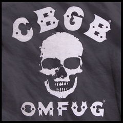 CBGB & OMFUG  Burn Out Skull Deluxe Vintage T-Shirt (Black)
