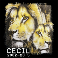 Cecil The Lion Tribute Shirt Mens T-shirt