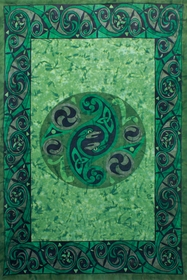 Celtic Snake Tie-Dyed Tapestry 60 x 90""