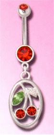 Cherry Charm Navel Jewelry