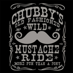 Chubby's Old Fashioned Wild Mustache Ride Men's T-Shirt